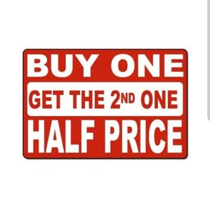 LIMITED TIME: Buy 1 Get 1 Half Price